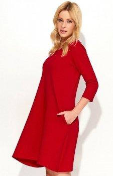 *Makadamia M375 sukienka czerwona