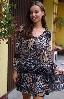 Roco 0217 sukienka wzór