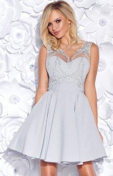 Bicotone 2156-31 sukienka szara