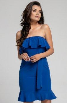 Nommo NA303 sukienka chabrowa
