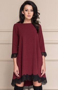 *Roco 0117 sukienka bordowa