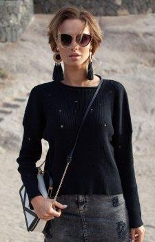 FIMFI I293 sweter czarny