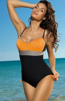 Marko Whitney M-253 kostium kąpielowy czarno-pomarańczowy