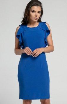 Nommo NA567 sukienka chabrowa