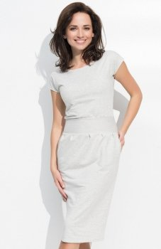 *Numinou NU44 sukienka beżowa