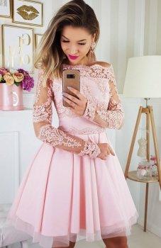 Bicotone 2137-12 sukienka pudrowy róż
