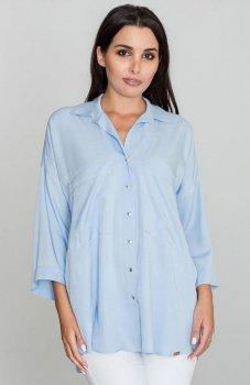 Figl M583 koszula błękitna
