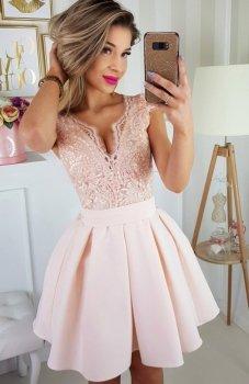 Bicotone  2139-17 sukienka łososiowa