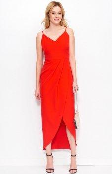 Makadamia M390 sukienka czerwona