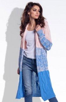 Fobya F337 ombre sweter błękitny