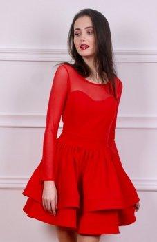 Roco 0228 sukienka czerwona