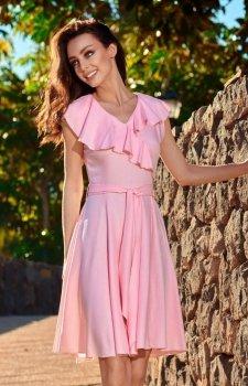 Lemoniade L253 sukienka pudrowy róż