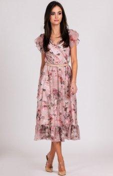 e5bb9b30e0 Szyfonowa sukienka w kwiaty 0250 D05