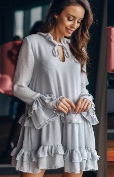 Lola Fashion Spanish sukienka  szara