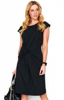 *Sukienka z wiązaniem M471 czarna