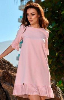 Lemoniade L243 sukienka pudrowy róż