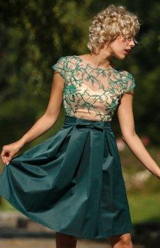 Monnom GAL sukienka zielona