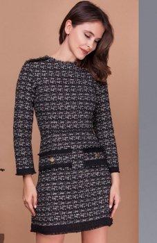 Milu by Milena Płatek MP392 sukienka czarno-ecru