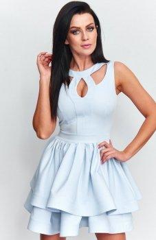 *Roco R-198 sukienka błękitna