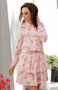 Lemoniade L281 sukienka pudrowy róż