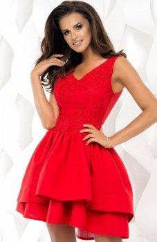 Bicotone 2118-02 sukienka czerwona