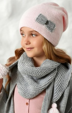 AJS 42-515 czapka i chusta dziewczęca