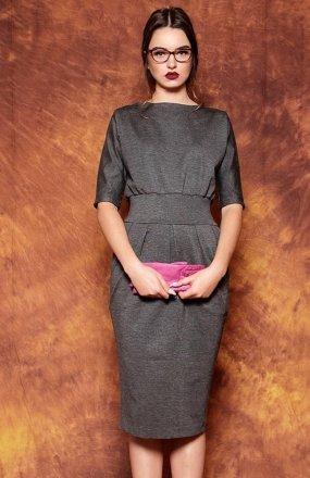 Kasia Miciak design mono sukienka grafitowa