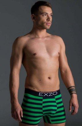 EXZO bokserki Pasy zielono-granatowe