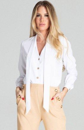 Biała bluzka z wiązaniem M700