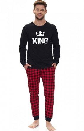 Piżama męska z napisem King PMB.9761