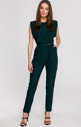 Elegancki kombinezon z poduszkami zielony S259