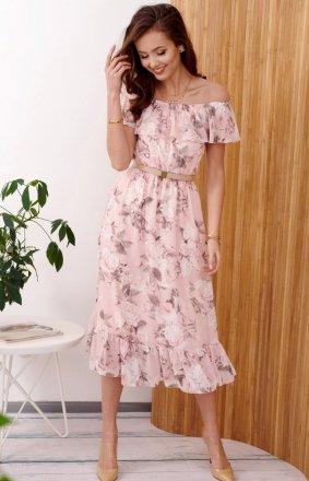Kwiecista sukienka hiszpanka 0247/R42