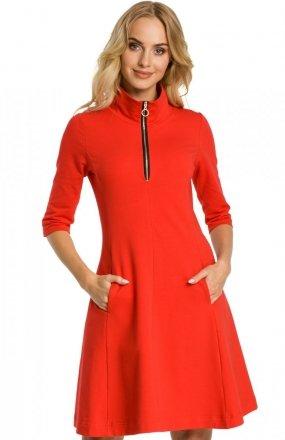 Moe M349 sukienka czerwona