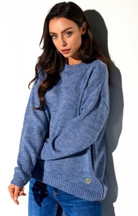 Oversizowy sweter jeans LS275