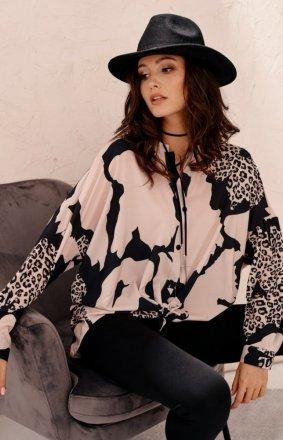 Oversizowa koszula damska print 0128 L15