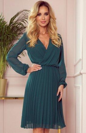 Elegancka sukienka z plisowaniem Numoco 313-1