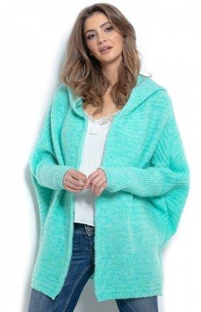 *Oversizowy sweter z kapturem F960