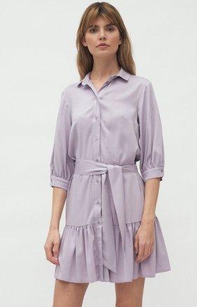 Sukienka z kołnierzykiem lila S179