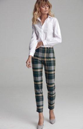 Garniturowe spodnie w kratę csd09