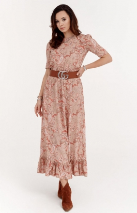 Szyfonowa sukienka w kwiaty 283/W01