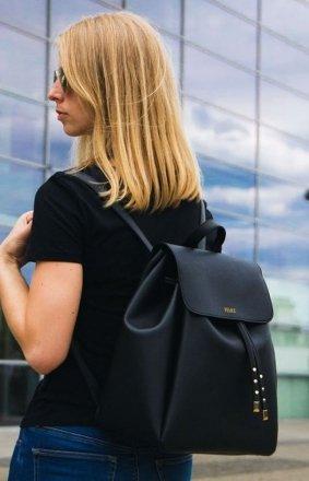 Pojemny plecak damski czarny Felice FB35
