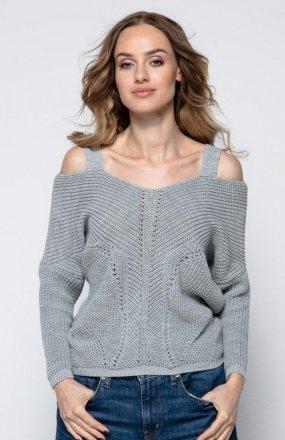 FIMFI I241 sweter szary