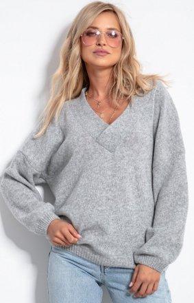 Fobya wełniany sweter w serek F1058