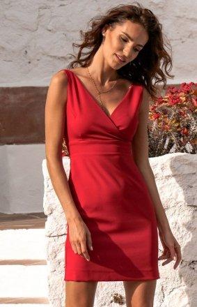 Seksowna czerwona sukienka Paola