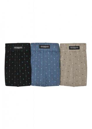 Henderson Slipy Henderson 1446 Czarne-jeans-oliwkowe (zestaw 3 sztuk)