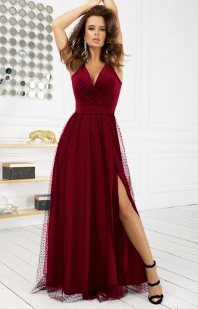 Elegancka długa sukienka Bicotone 2218-10