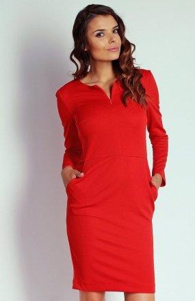 Nommo NA109 sukienka czerwona