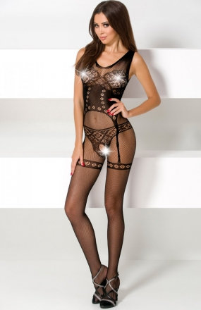 Passion BS052 bodystocking czarne