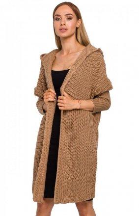 Długi sweter z kapturem M475