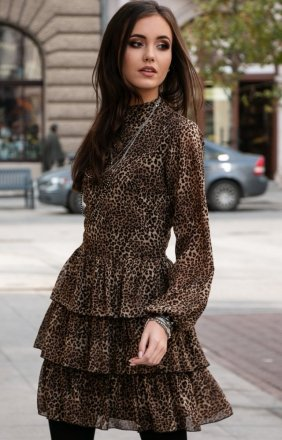 *Kobieca sukienka w panterkę 0261/D85
